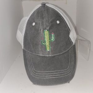 Urban Outfitters cactus applique dad/truckers hat